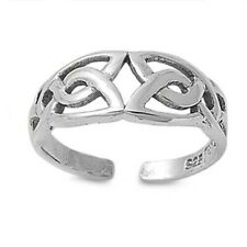 7 mm Solid Sterling Silver 925 Celtic Design Adjustable Toe Ring Face Height