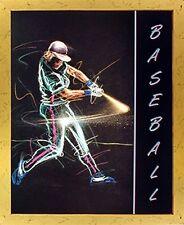 Playing Baseball Batter Swing Motivational Sports Wall Decor Art Framed Picture