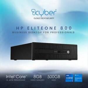 HP EliteDesk 800 G1 SFF Desktop PC i5-4590 3.3GHz 8GB Ram 500GB HDD