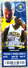 BEAUTIFUL INDIANA PACERS PLAYOFF TICKET STUB - STEVENSON & WEST - MINT!