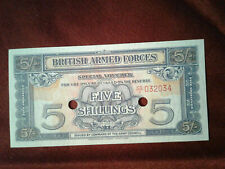 British Armed Forces 1948 M-20d 5 Shillings Banknote *UNC* 4b66.1