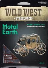 Fascinations Metal Earth Wild West Stagecoach 3D Laser Cut Steel Metal Model Kit