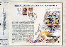 DOCUMENT CEF PREMIER JOUR 1983  TIMBRE N° 2262 A BICENTENAIRE DE L AIR  ESPACE