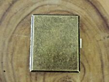 Antique Brass Finish Metal Double Sided King Size Cigarette Case