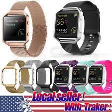 USA Sport Silicone/Milanese Watch Band Wrist Strap Bracelet For Fitbit Blaze ol