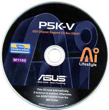 ASUS P5K-V Motherboard Drivers Installation Disk M1180