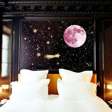 ROSA INCANDESCENTE LUNA FOSFORESCENTI luna Muro per bambini ADESIVI 30cm x 30cm