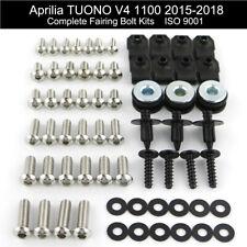 Motorcycle Fairing Bolt Kit Stainless Screws For Aprilia Tuono V4 1100 2015-2018