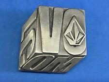 Volcom Metal Logo Belt Buckle - 3D block square cool effect!