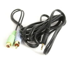 New listing Stereo 3.5mm 1/8 Inch Male to Rca - One Female and One Male Connector - 6 Feet