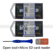 Samsung 16GB 2x 8GB DDR3 1066MHz PC3-8500s Laptop SODIMM 204Pin RAM Tool+MicroSD