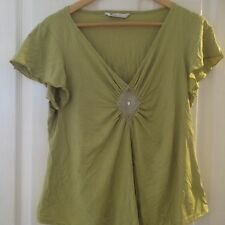 BHS Green Top - Size 20 - In Good Condition