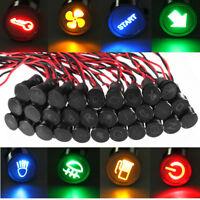 8mm Auto LED Warnanzeige Anzeigelampe Warnlicht Kontrollleuchte 12V 24V Licht