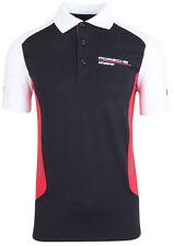 Porsche Motorsport men's functional polo shirt black