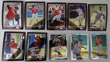 2010 Bowman Chrome Atlanta Braves Team Set 10 Baseball Cards