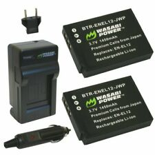 Wasabi Power Battery (2-Pack) and Charger for Nikon EN-EL12