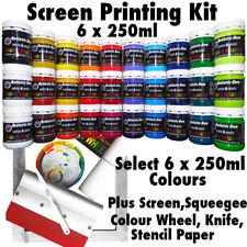 DIY Screen Printing Kit Primary 6 x 250ml Screen Printing Inks  permaset com