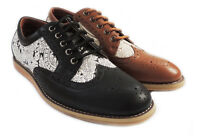 NEW MENS CLASSIC LACE UP WING TIP OXFORDS CASUAL LEATHER LINED DRESS SHOES19525H