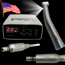 Dental Brushless Mini Internal Spray Electric Motor+1:1 Fiber Optic Contra Angle