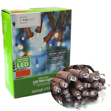 100 LED Christmas Warm White Wedding Tree Decor Party Fairy String Lights Brown