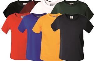 Kids Cotton T-Shirts Boys Girls Plain TShirt Childs Quality Crew Neck School Tee
