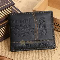 Men's PU Leather Bifold Wallet Credit/ID Card Receipt Holder Coin Purse Stylish