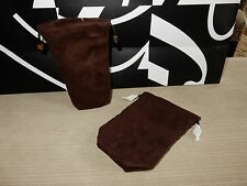 New Tom Ford brown suede Drawstring pouch case jewelry bag - 100% Authentic