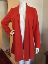 Eileen Fisher Sweater Jacket Coat Open Cardigan ORANGE 100% Wool S/P NWT $358