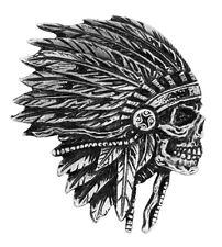 Side Headdress  INDIAN JACKET VEST PEWTER  MC  BIKER PIN BY MILTACUSA