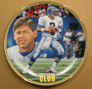 RARE TROY AIKMAN THE BRADFORD EXCHANGE NFL QB CLUB COLLECTOR PLATE COWBOYS