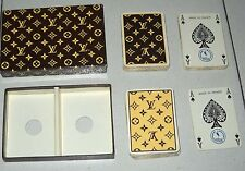 LOUIS VUITTON PLAYING CARDS 1972 Carte da gioco Poker BOX Heron France