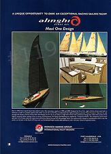 ALINGHI Class 85 Maxi One Design Yacht ADVERT - 2003 Advertisement