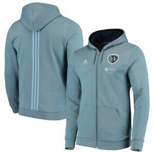 Adidas MLS Kansas City Sporting Travel Jacket SkyBlue/White DP4967