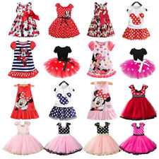 Minnie Mouse Kids Girls Birthday Party Costume Ballet Tutu Dress Summer Clothes
