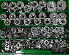 400 pezzi acciaio inox scatola SCORTA DADI U DISCHI DIN 934 DIN 125 M6 - M12