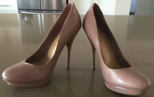 Pre-owned Blush Pink SIREN Leather Stiletto Shoes / Pumps Size 6.5
