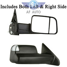 Black Power Heated Towing Mirrors For 2009-2015 Dodge Ram 1500 2500 3500 Pickup