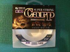YGK 150m Carp Fishing Nylon Line Super Strong #6 - 27Lb  Japan  !