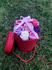 Soap flowers in a beautiful box, a magical gift for a person you love! ask price