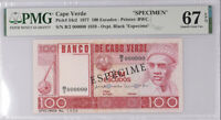 Cape Verde 100 ESCUDOS 1977 P 54 s2 SPECIMEN SUPERB GEM UNC PMG 67 EPQ TOP POP