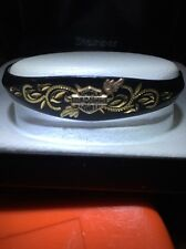 NEW Stamper Black Hills Gold Harley Davidson BLACK MATTE W GOLD INLAY Bracelet