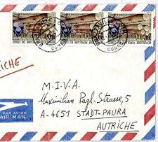 CM329 CONGO Cover 1981 Missionary Air Mail MIVA Austria TIMBER LOGGING