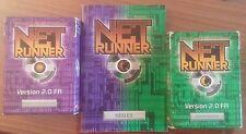 Lot de deux decks Netrunner 2.0 Version Fr + Règles - Paquet Corporation Runner