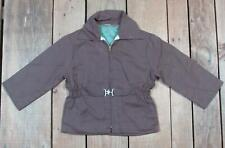 Vintage 1950s Purple Gabardine Boys Jacket Half Belted Waist Car Coat Rockabilly