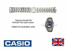 Genuine Casio Watch Strap Band for WVA-430TDU, WVA430 (Code:S-1003L) - Titanium