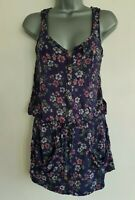 HILFIGER DENIM Women's Navy Mix Floral Sleeveless Tunic Dress. Size XS.
