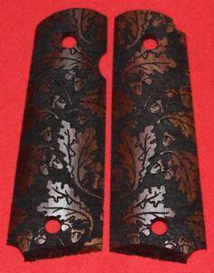 Colt Firearms Full Size 1911 Grips Oak Leaves