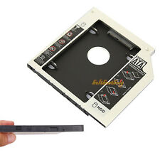 SATA 2nd HDD caddy fr 9.5mm Universal CD/DVD-ROM ACER BENQ HP DELL ASUS Aluminum