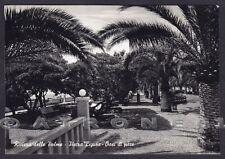 SAVONA PIETRA LIGURE 70 PALME Cartolina FOTOGRAFICA viaggiata 1958