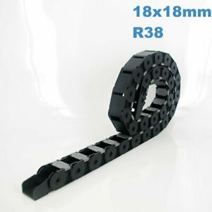 18x18mm R38 Nylon Energy Drag Chain Cable Wire Carrier CNC Router 3D Printer Mil